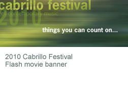 Cabrillo Festival of Contemporary Music - website image banner - 2009 homepage banner