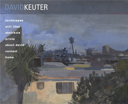 artist website - david  keuter - home page