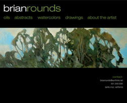 artist website - brian rounds - home page